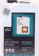"Board Dudes 8.5"" x 11"" Plastic Frame Magnetic Dry Erase Board"