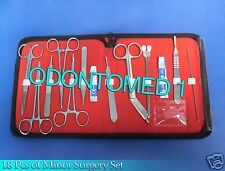 Minor Surgery Set 18 Pieces Surgical Instruments kit Stainless Steel