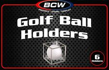 18 Golf Ball Holders Cube Stand  BCW  Display Cases Stackable Protection