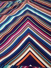 "Retro Striped Lines Polyester Lurex Lycra Stretch Dance Dress Bodycon 58"" Width"
