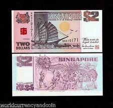 SINGAPORE 2  DOLLARS P31 A 1994 BCCS UNC COMMEMORATIVE MONEY BOAT BANK NOTE
