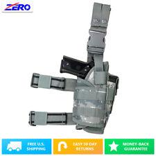 Digital Adjustable Wrap Around Universal Pistol Drop Leg Holster MOLLE Gear PVC