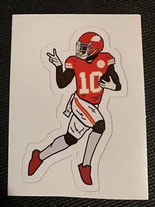 """Tyreek Hill Kansas City Chiefs Super Bowl Cheetah #10 Decal Sticker NFL 2.5"""" x 4"""