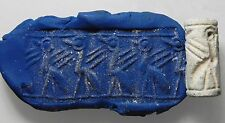 ZURQIEH - cy5- ANCIENT CANAANITE FAIENCE CYLINDER SEAL. 1700 - 1550 B.C