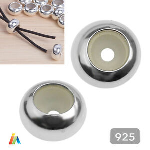925 STERLING SILVER 6.5mm PLAIN STOPPER CHARM BEADS SPACER Clasp FINDING    F443