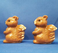 SQUIRREL Salt & Pepper Shakers - Fall Animal Kitchen Ceramic Home Collectible