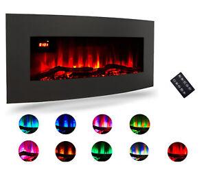 LED Elektrokamin Standkamin Wandkamin Heizung Kamin Wärme Kaminofen 10 Farben
