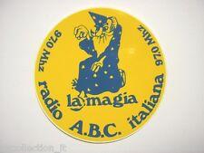 VECCHIO ADESIVO RADIO / Old Sticker _ RADIO ABC ITALIANA TORINO (cm 9)