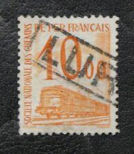 TIMBRES FRANCE COLIS POSTAUX : 1960 YVERT N° 46 Oblitéré  10f00 JAUNE - BE