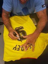 Camicia di calcio firmata Watford 2012/13 Home grandi ~ deeney 9