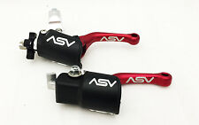 ASV C6 Red SHORTY Pair Pack Brake Clutch Levers Kit Honda CR CRF XR Universal