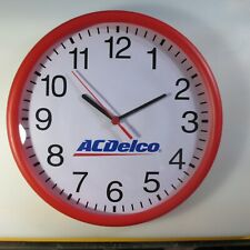 "New in Box 12"" Dia. Wall clock with ACDELCO Logo...battery operated using 1.5VAA"