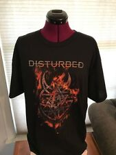NWOT NEW DISTURBED BLACK 100% COTTON T-Shirt MEDIUM (M) BURNING BELIEF FLAMES