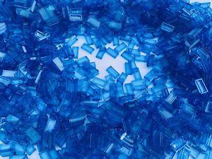 LEGO 35386 3069 - 1x2 Blue Transparent Translucent Tile / 50 Pieces / Water Sea
