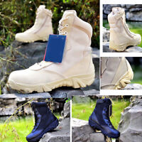 Men Ankle Boots Military Combat Work hiking Shoes Tactical Desert SWAT winter 9
