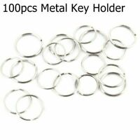 100pcs 25 mm Metal Key Holder Split Rings Keyring Keychain Fob Key B4Q5
