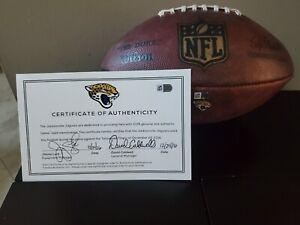 Jacksonville Jaguars GAME USED Football-FANATICS COA-rare and awesome !!