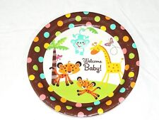 """FISHER PRICE BABY  SHOWER 8-PAPER LUNCH  PLATES 10.5"""" DIAM. . - PARTY SUPPLIES"""