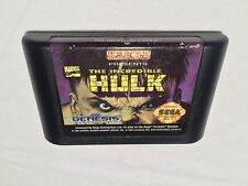 The Incredible Hulk (Sega Genesis) Marvel Comics Game Cartridge Vr Nice!