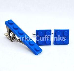 LEGO® PLATE Cufflinks & Tie Slide Clip Set - Birthday Wedding Groom Mens Gift