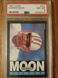 Warren Moon Rookie 1985 Topps PSA 8
