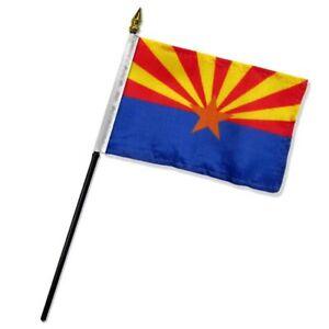 "Arizona State Flag 4""x6"" Desk Table Stick (premium polyester)"