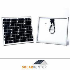 50W Solarmodul WATTSTUNDE® SOLAR MONO PV Solarpanel 12V mit MC4 Steckern