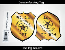 New Replacement Decals Stickers for Little Tikes Step2 Police Coupe Car Badge