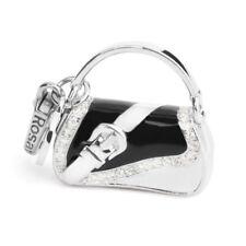 ROSATO Gioielli ciondolo argento borsetta charm MY BAGS BA010 smalto nero