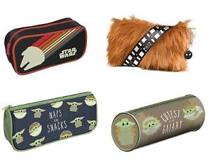 Genuine Star Wars Zipped Pencil Case Stationery Chewbacca Mandalorian Nostalgia