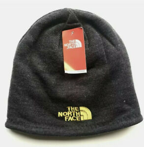 Grey - Black The North Face Winter Hat/Cup/Beanie/Unisex/Fashion/Ski/Two Faces