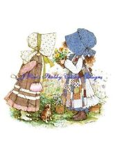 Spring Holly Hobbie Flowerpots Cotton Fabric Block Choose 5x7 or 8x10 Size