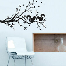 Wall Decal Vinyl Sticker Tree Branch Squirrel Love Hearts Bedroom Modern Z2712
