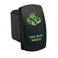 Rocker Switch 6B36G Laser TWO WAY RADIO dual LED green 12V polaris ranger