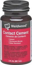 NEW DAP WELDWOOD 00107 3 OZ BOTTLE BRUSH ON CONTACT CEMENT GLUE 6376644