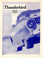 1961 FORD THUNDERBIRD 390/300 HP  ~  ORIGINAL 6-PAGE ROAD TEST / ARTICLE / AD