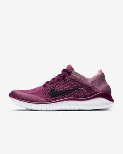 Nike Free Rn Flyknit 2018 Raspberry Red/Blue Void-White 942839-600 Women's Sizes
