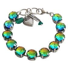 Mariana Silver IRIDESCENT MEDIUM VITRAIL RAINBOW MULTI Swarovski Large Bracelet