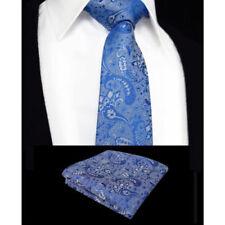 Cravates, foulards et ceintures de cérémonie bleus en soie mélangée pour homme