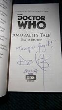 **SIGNED/LINED/DATED** DOCTOR WHO - AMORALITY TALE by DAVID BISHOP