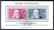 1948 Switzerland Scott B178 Int'l Phil Expo souv sheet FDC cancel 8/21/48 w/gum