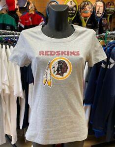 NFL Washington Redskins Women's T-Shirt - Grey - Size 12/Medium Free P&P UK Only