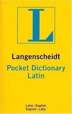 Langenscheidt Pocket Latin Dictionary: Latin-English, English-
