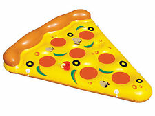 Swimline 90645 Inflatable Giant Pizza Slice Floating Raft for Pool, Pond, Lake
