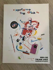 1991-92 USA Hockey team Yearbook Program - MINT