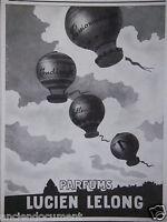 PUBLICITÉ 1943 PARFUMS LUCIEN LELONG PASSIONNEMENT INDISCRET - ADVERTISING