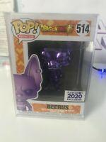2020 Funimation Exclusive Funko POP! DBZ Super Chrome Purple Beerus #514