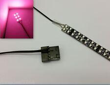 PINK PC MODDING LED CASE LIGHT (SINGLE 20CM STRIP) MOLEX 60CM TAILS QUAD DENSITY