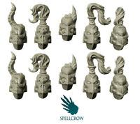 Spellcrow Pleasure Knight Helmets Chaos Noise Marines Slaanesh Warhammer 40k