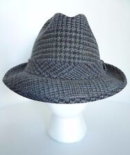 Vintage Pendleton 100% Pure Virgin Wool Gray Houndstooth Trilby Hat. Size 7. USA